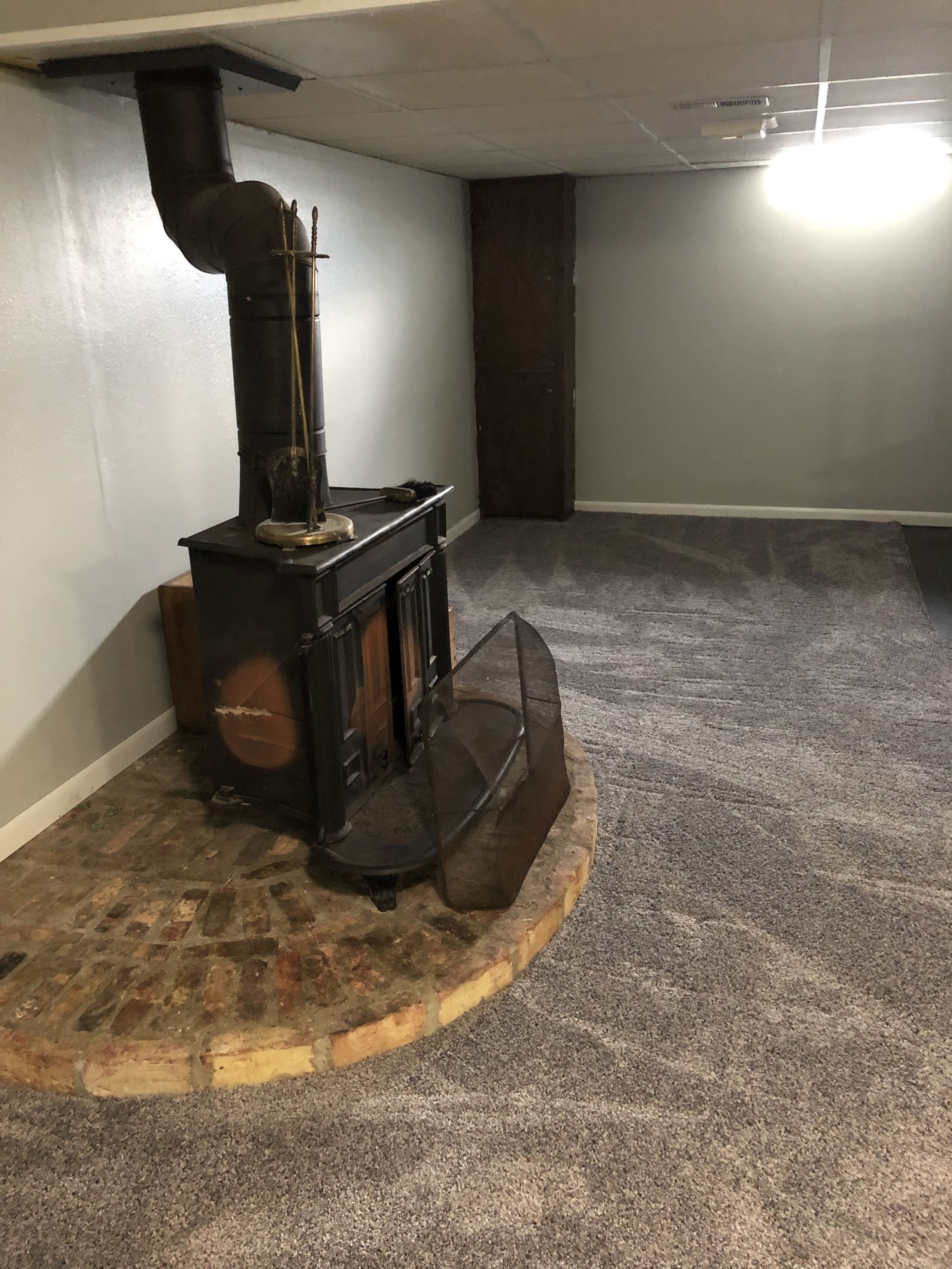Basement Wood Burning Stove